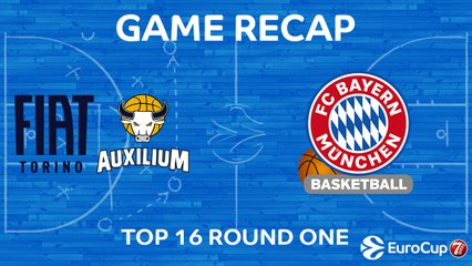 7Days EuroCup Highlights Top 16, Round 1: Fiat Turin 90-76 Bayern
