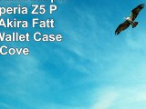 URCOVER Custodia portafoglio Xperia Z5  Protettiva Akira Fatta a Mano  Wallet Case Flip