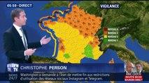 Météo: vents violents, importantes précipitations mais températures douces sur tout le pays
