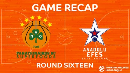 EuroLeague 2017-18 Highlights Regular Season Round 16 video: Panathinaikos 90-79 Efes