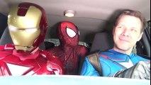 Superheroes Dancing in a Car - SPIDER-MAN & IRON MAN & CAPTAIN AMERICA - TheSeanWardShow | Superheroes | Spiderman | Superman | Frozen Elsa | Joker