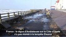 Pas-de-Calais: des digues n'ont pas résisté à Eleanor