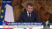 """Macron fustige les """"fausses nouvelles"""" sur Internet provenant """"d'une stratégie financée"""""""