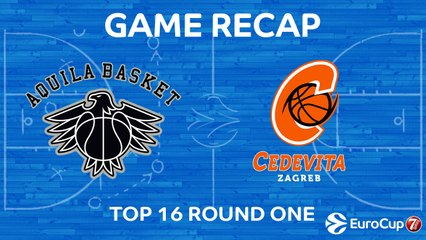 7Days EuroCup Highlights Top 16, Round 1: Trento 83-72 Cedevita