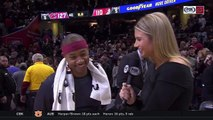 Isaiah Thomas was all smiles after making his Cleveland Cavaliers debut