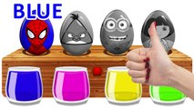 Surprise Eggs Bathing Colors ! Learn Colors With Spiderman Dora and Angry Bird
