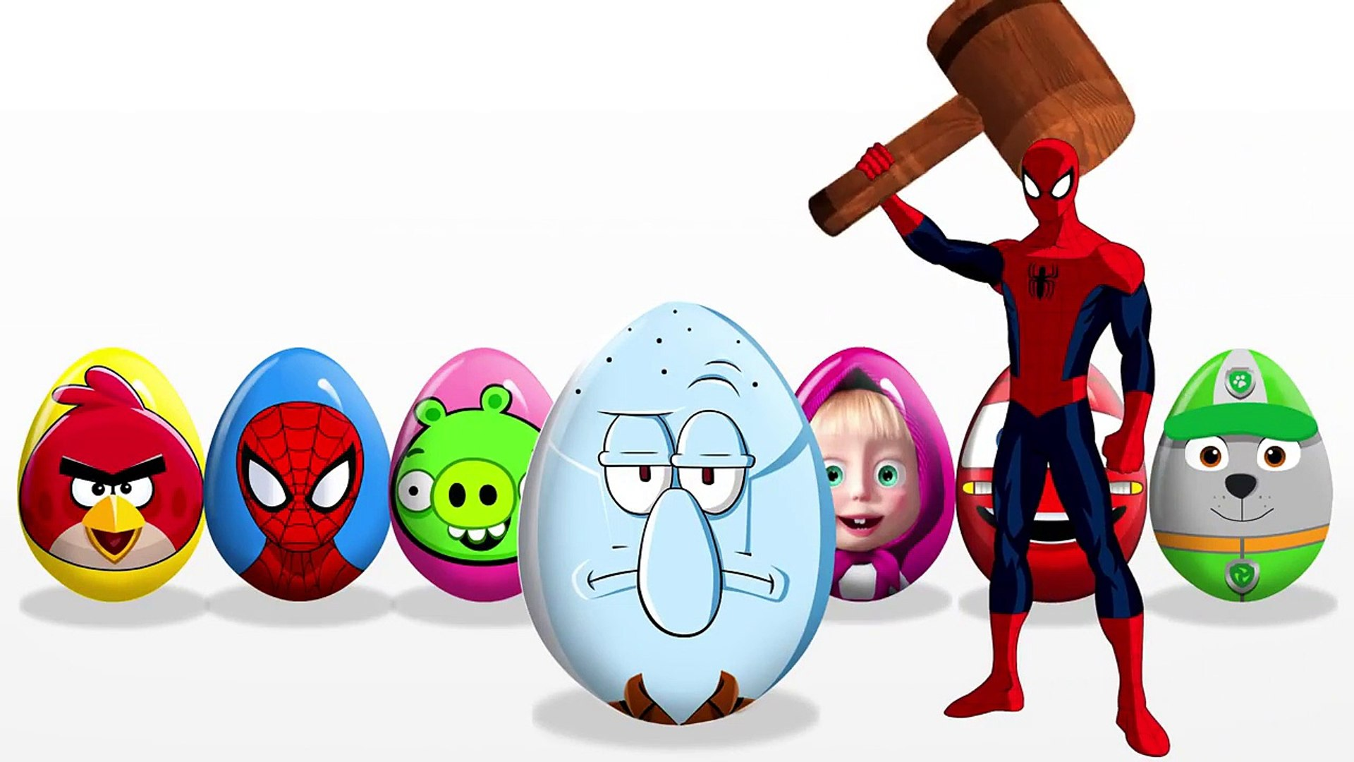 Learn Colors! Surprise Eggs! Masha and the Bear! Spiderman! Hulk! Paw Patrol! Spo
