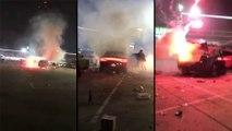 Un homme met involontairement le feu à des feux d'artifices dans le coffre de sa voiture