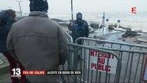 Pas-de-Calais : alerte en bord de mer après la tempête Eleanor