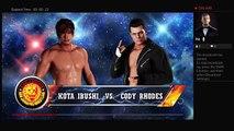 WWE 2K18 NJPW Wrestle Kingdom 12 Kota Ibushi Vs Cody