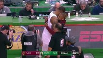 Isaiah Thomas Greets Kyrie Irving & Former Teammates After Loss To Celtics