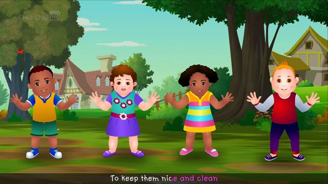 Wash Your Hands Song for Kids _ Good Habits Nursery Rhymes For Children _ Chu