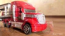 Car Transporting Trailer For Kids _ Toy Cars Transportation by