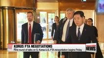 First round of KORUS FTA renegotiation talks to start in Washington