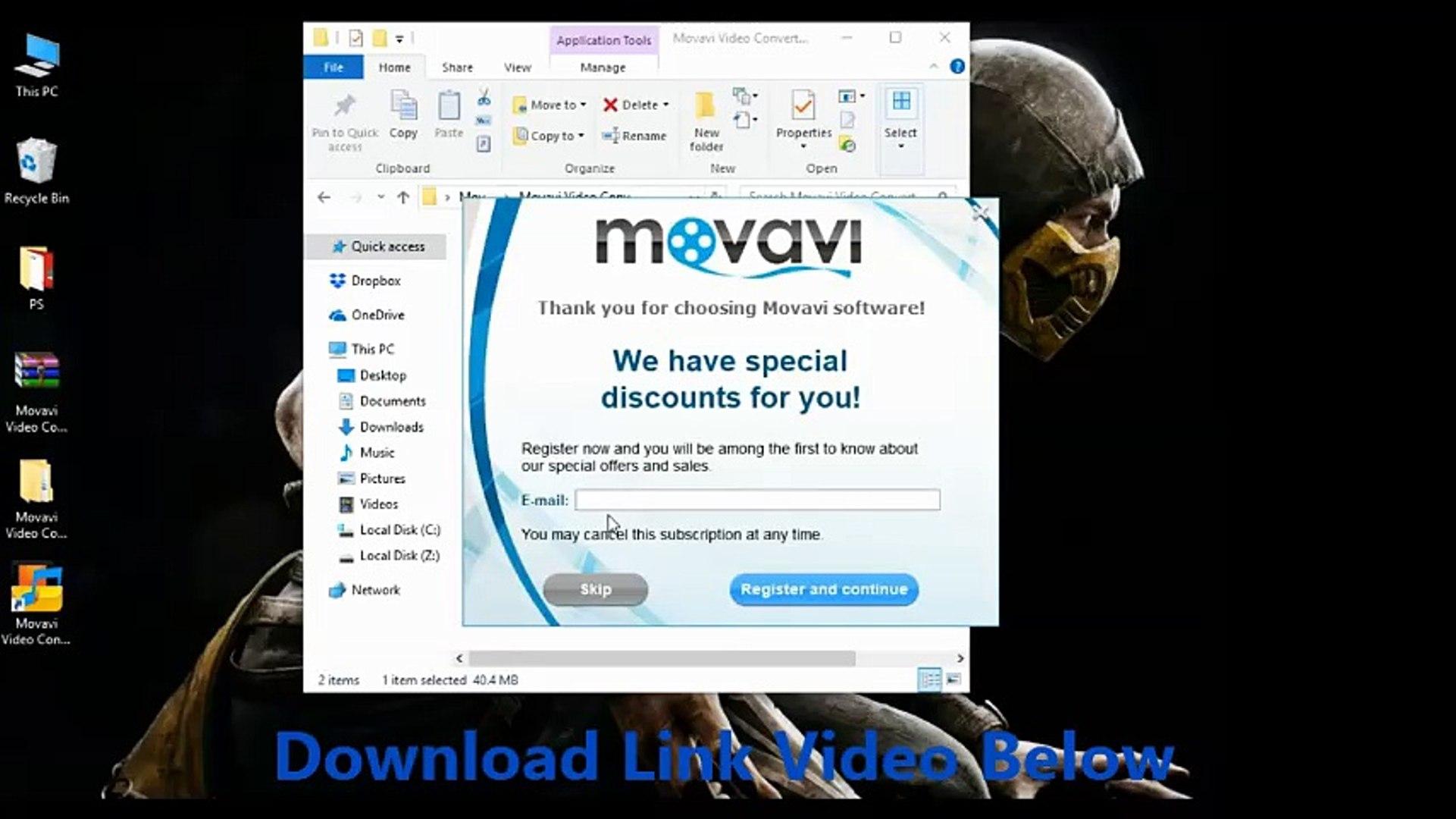 get activation key for movavi video converter