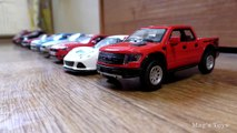 Cars for Kids _ Toy Cars on  Parade driving in one