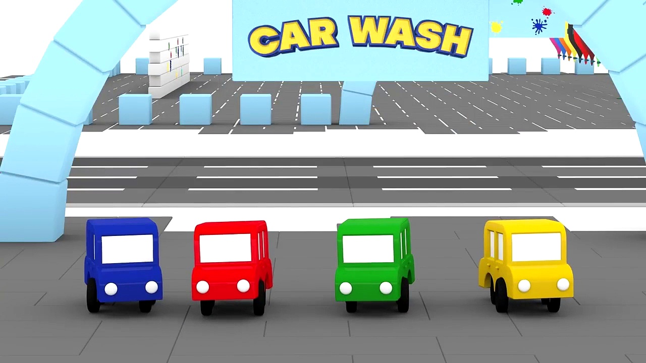Cartoon Cars – CAR WASH PAINTBALL – Cars Carto