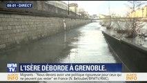 A Grenoble, l'Isère est sortie de son lit