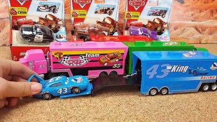 Disney Pixar Cars3 Toys Lightning McQueen Mack Truck fo