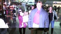 Mason Disick Dons Scary Wrestling Mask At JFK Airport [2014]