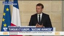"""""""Nous avons des désaccords"""" avec la Turquie """"sur les libertés individuelles"""", dit Emmanuel Macron"""