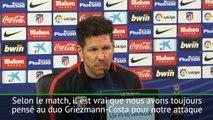 Atlético - Simeone évoque le duo Griezmann-Costa