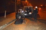 Jandarma, Yaralı Eşek Islanmasın Diye Şemsiye Tuttu