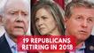 19 Republicans Retiring in 2018