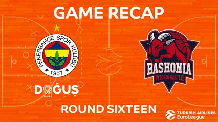EuroLeague 2017-18 Highlights Regular Season Round 16 video: Fenerbahce 79-74 Baskonia
