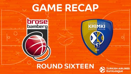 EuroLeague 2017-18 Highlights Regular Season Round 16 video: Bamberg 70-74 Khimki