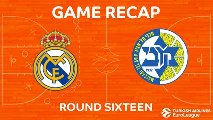 EuroLeague 2017-18 Highlights Regular Season Round 16 video: Madrid 93-81 Maccabi