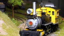 Narrow Gauge Modular Model Railway in O Scale with Steam locomotives of the Wild West