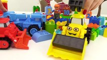 BOB the Builder Can't Count! TOY TRAINS Number Game with LEGO Construction Toy Trucks Learn Num