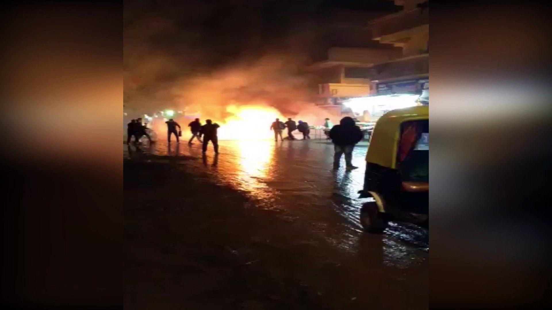 حريق توك توك بمدينة بيلا فى كفر الشيخ دون إصابات