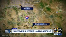 Skydiver injured after parachute malfunction at Skydive Arizona