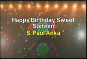 Paul Anka Happy Birthday Sweet Sixteen Karaoke Version