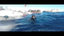 Italy's coast guard rescues scores of migrants off Libyan coast