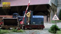 Model Train Layout with Field Railway and Brick Factory in O Scale Narrow Gauge