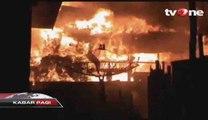 Kebakaran Besar Hanguskan Tiga Rumah Warga di Sampit