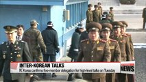 N. Korea confirms delegation for inter-Korean talks on Tuesday