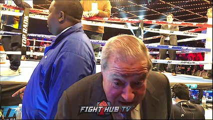 """BOB ARUM DECLARES """"LOMACHENKO RIPS UP MIKEY GARCIA AND LINARES!"""""""