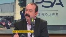 """Philippe Martinez, secrétaire général de la CGT, accuse PSA de vouloir """"transformer les CDI en précaires"""""""