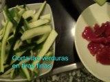 Fajitas de verduras al curry - Recetas fáciles y caseras
