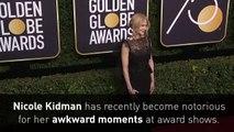 Nicole Kidman's awkward kiss at the Golden Globes