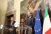 Déclaration conjointe d'Emmanuel Macron et de Paolo Gentiloni à Rome