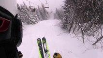 Adrénaline - Ski : Quand Adrien Coirier croise la route de chevreuils dans la poudreuse des Arcs