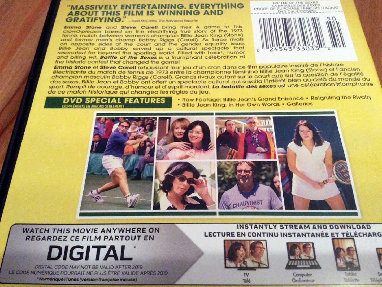Critique du film Battle of the sexes (La Bataille des sexes) en format DVD