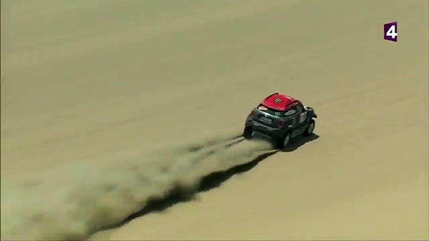 El español Nani Roma sufre un accidente con Mini en las dunas