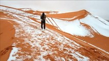 De la neige en plein désert du Sahara - 09/01/201