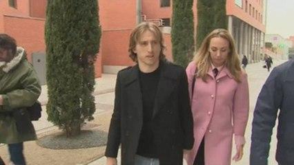 Luka Modric pasa por los juzgados